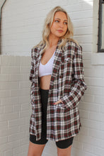 Vintage Plaid Flannel Blazer