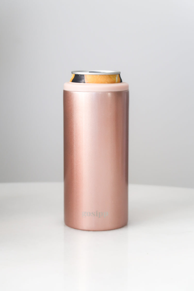 GOSIPP Le Slim 12oz Can Cooler – Rose Gold