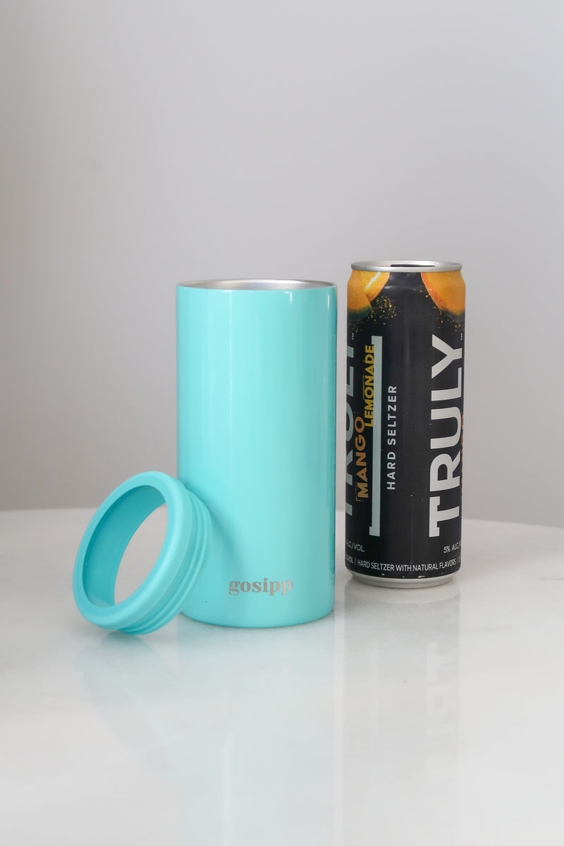 GOSIPP Le Slim 12oz Can Cooler – Teal