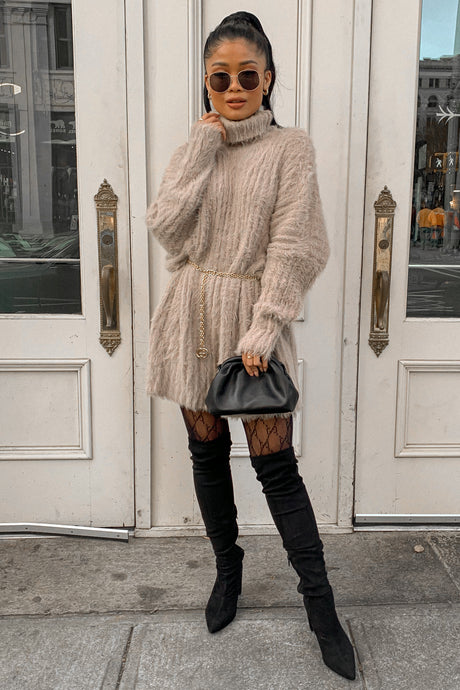 Winter Things Oversized Sweater Dress