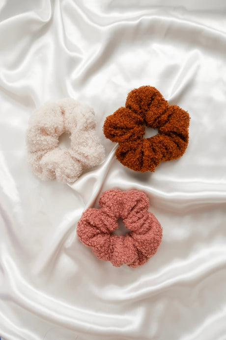 Teddy Scrunchies – Set of 3