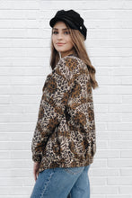 Vintage Silk Animal Print Jacket