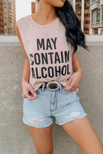 May Contain Alcohol Muscle Tank – Taupe