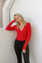 Aspen Long Sleeve Top – Red