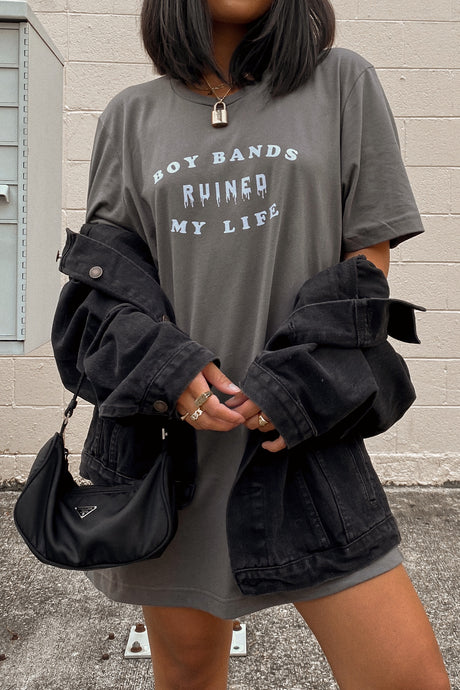 Boy Bands Ruined My Life Oversized Tee