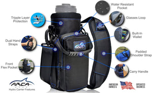 Arca Gear 40 oz Hydro Carrier - Stainless Water Bottle Holder With Shoulder Strap