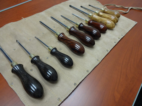 Screwdrivers, Cocobolo, Ebony, Olivewood, Brass and steel