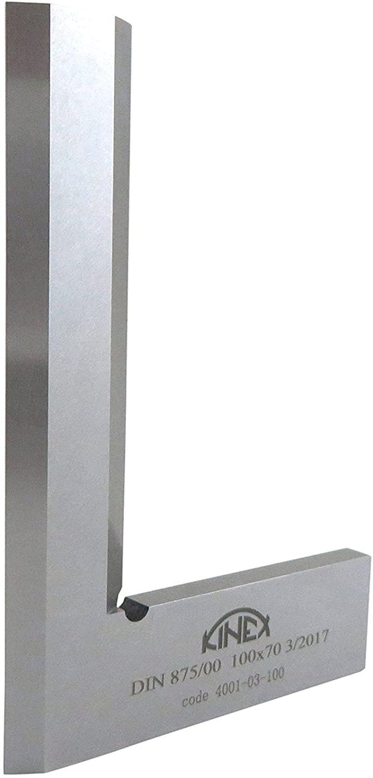 Kinex 100 mm x 70 mm stainless steel knife edge DIN 875/00 square from Canadian Distributor Northwest Passage Tools