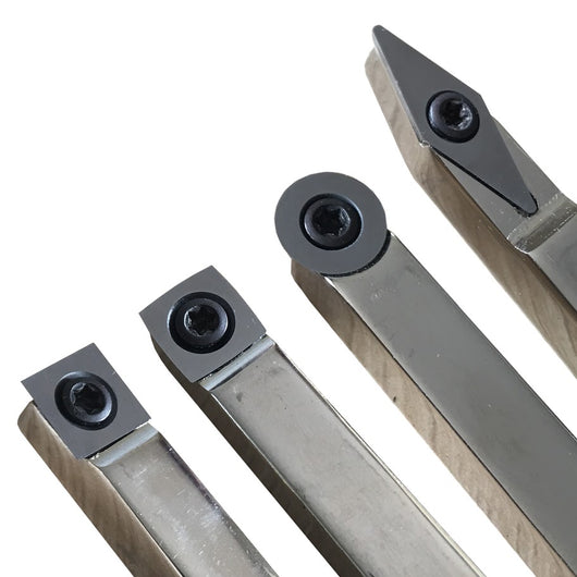 Carbide replacement cutters for woodturning tools