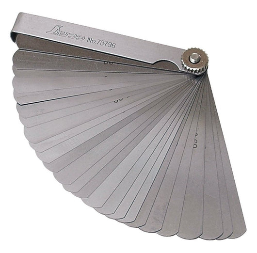 Shinwa Feeler Gauge with twenty five 100 mm leaves from Northwest Passage Tools