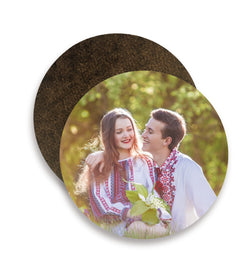Personalised Wooden Circular Coasters