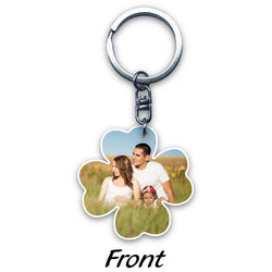 Four Leaf Clover Acrylic Key Ring (2-sided print)
