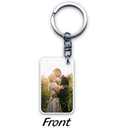 Rectangular Acrylic Key Ring (2-sided print)