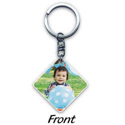 Square Acrylic Key Ring (2-sided print)