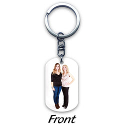Truncated Circle Acrylic Key Ring (2-sided print)
