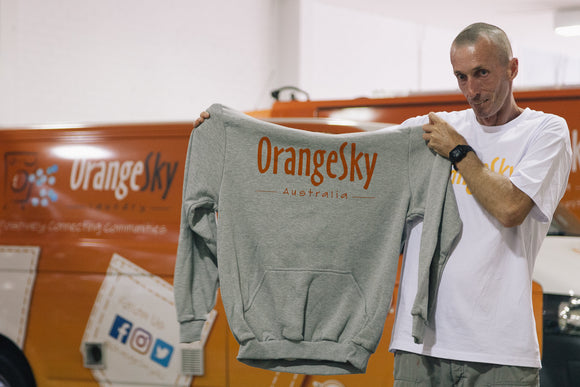 Orange Sky Australia Hoodie (Grey)