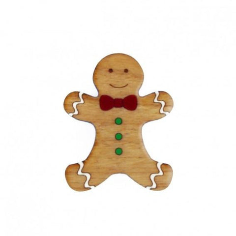Christmas Gingerbread Man Brooch