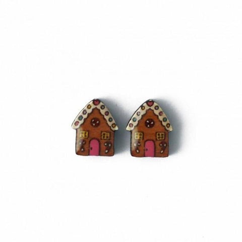 Christmas Gingerbread House Earrings