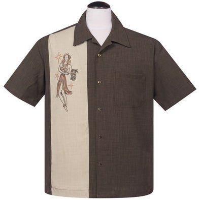 Mai Tai Mirage Button Up in Coffee