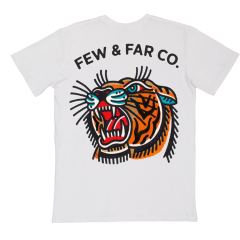 White 'Lindauer Tiger' Tee 2XL - Last One!