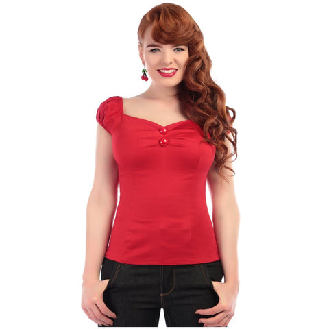 Dolores Top Red