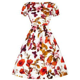 White Butterfly Floral Eloise Dress Size 12 - Last One!