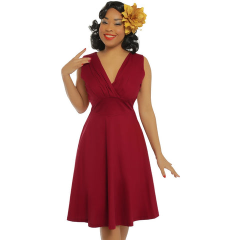 'Karen' Red Swing Dress