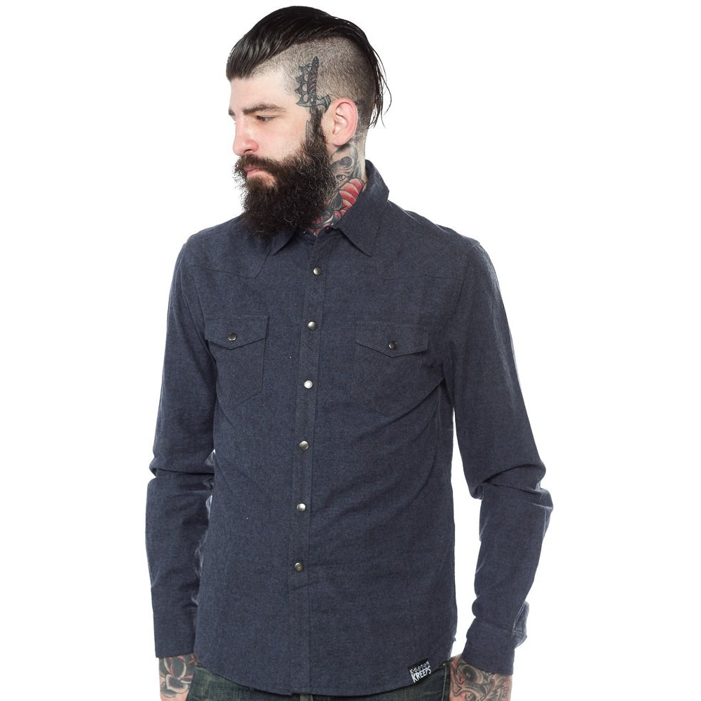 WESTERN BUTTON DOWN BLUE