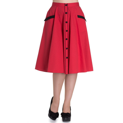 Martie 50s Skirt Red S - Last One!