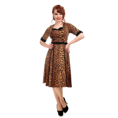Quinn Leopard Print Doll Dress