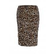Verity Leopard Wiggle Skirt