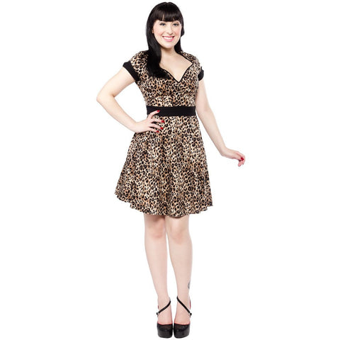 LEOPARD DOLLFACE DRESS