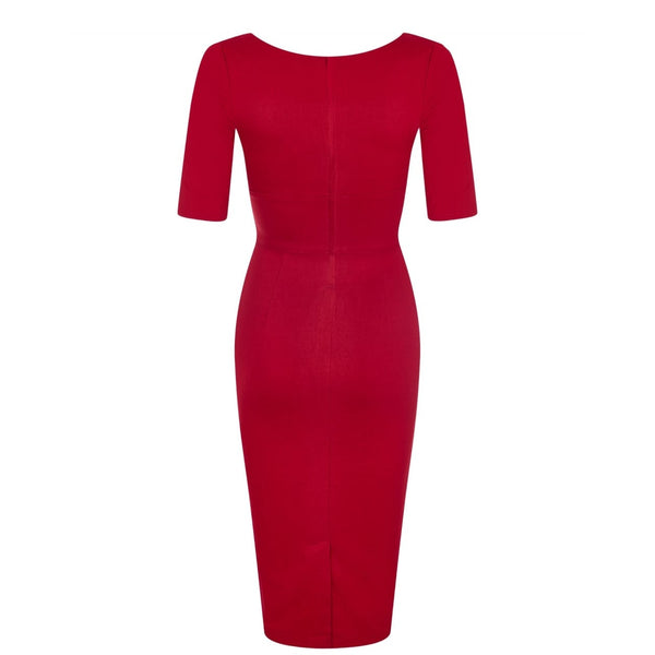 Trixie Pencil Dress Wine -Size M Last One!