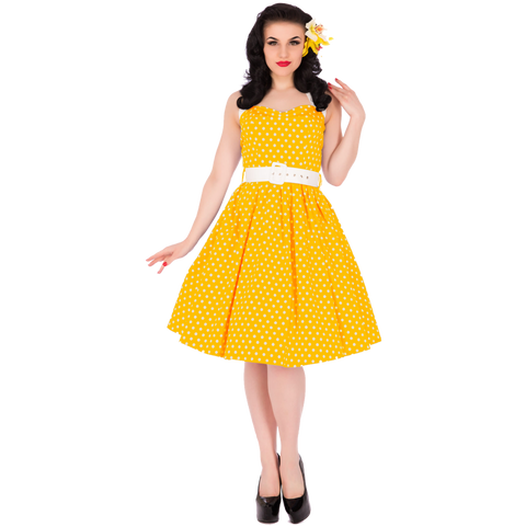 Sophie Two Toned Rockabilly 1950s Dress in Yellow