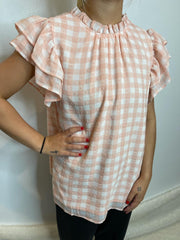 Picnic Plaid Pink Top