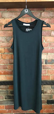 Black Tank Dress with Raw Edge Detail