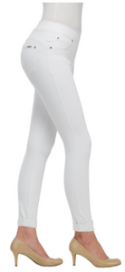 4-Way Stretch Skinny Cuff - White