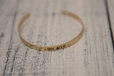 Gold Breathe Cuff Bracelet