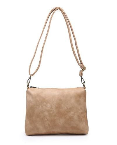 Distressed Espresso 2-in-one Hobo Bag