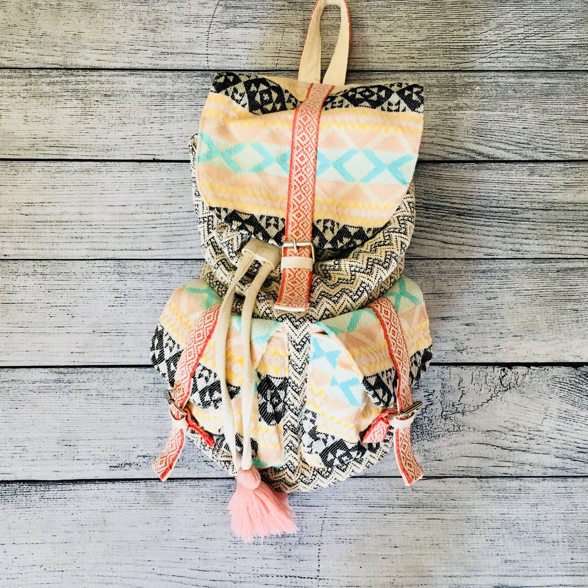Rose Cloud Aztec Backpack