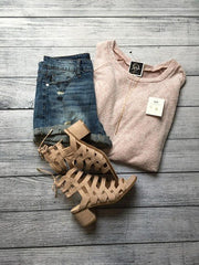 Blush Hacci Sweater Top