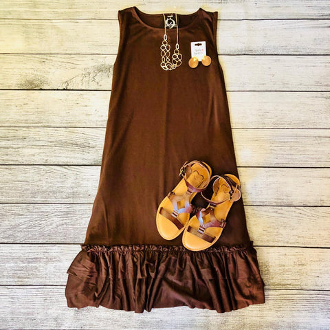 Flowy Ruffle Tank Dress