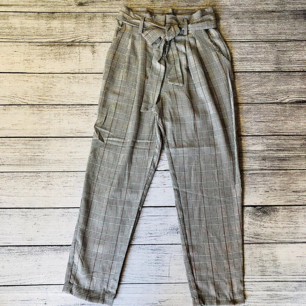 Glen Plaid High Waist Pant