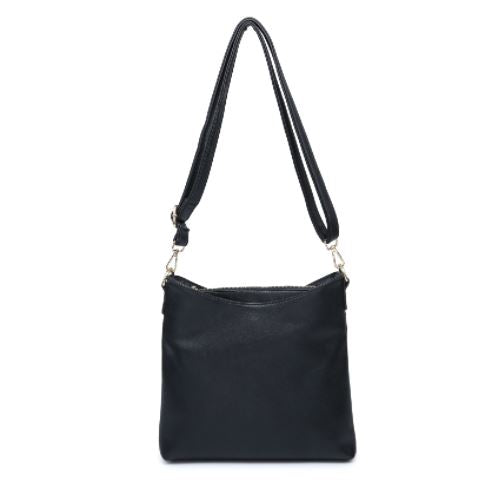 Black Compartment Shoulder Bag