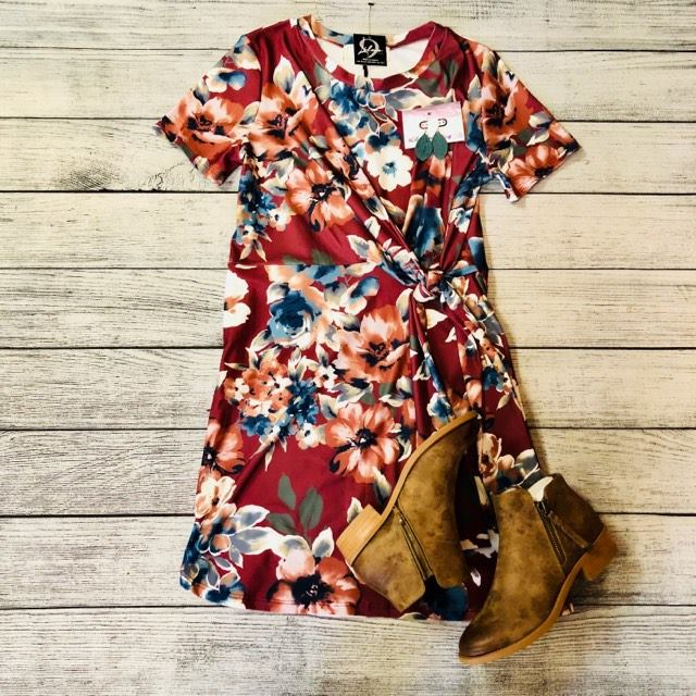 Floral Side Knot Dress