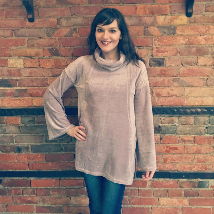 Oversize Turtle Neck Tunic