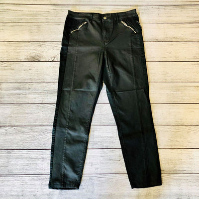 Zipper Pocket Black Skinny Jeans