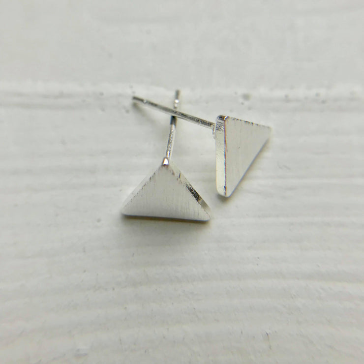 Solid Triangle Stud Earrings