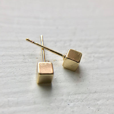 Cubic Square Stud Earrings