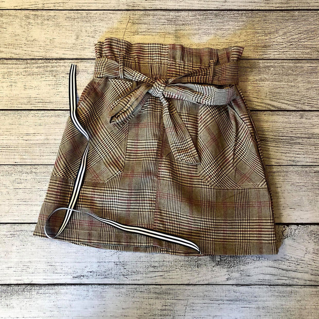 Woven Glen Plaid Skirt